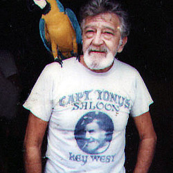 "<p align=""justify""> Capt. Tony died November 1, 2008 at the age of 92.  He has often been called Key West's most beloved resident.  In honor of his passing, there was a parade down Duval Street in Key West ending in front of Capt. Tony's Saloon. </p>"